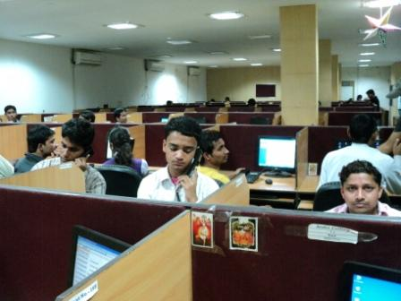 Student Working in Inida Calling