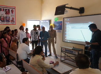 Education - Ensuring hitech education though installation of SMART Classes in government schools