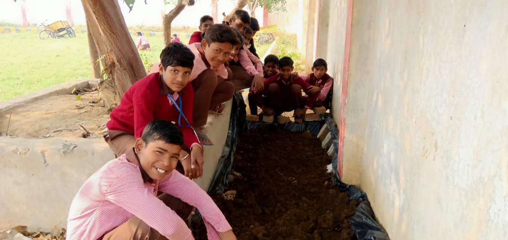 Vermi Composting by school children