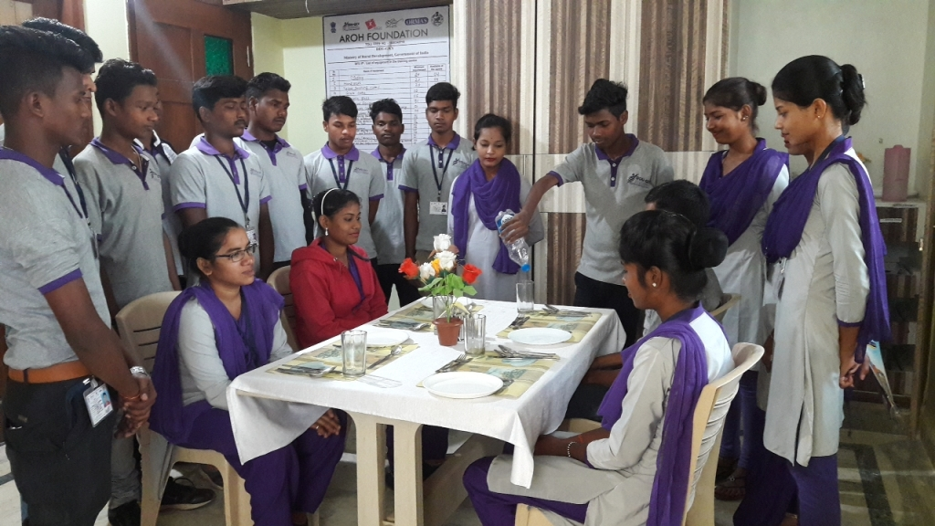 DDU GKY Hospitality practical session