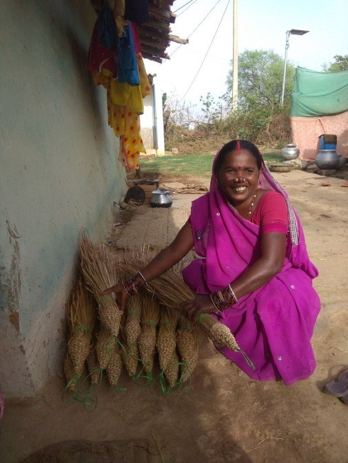 Meena Bai a business women from traditional broom