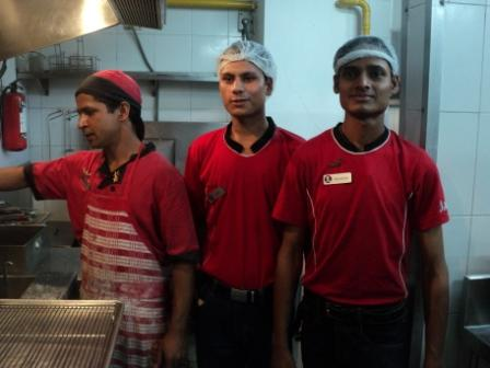 Student Working in KFC